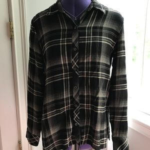 Michael Stars Women's size XS Black Plaid Top